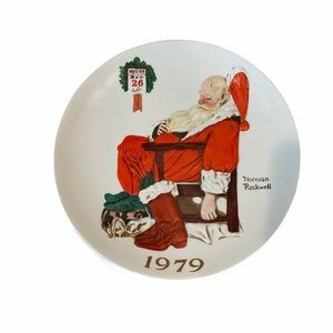 Norman Rockwell Day After Christmas Plate Collect